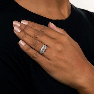 Art Deco .78 Carat Diamond Platinum Engagement Ring by Granat Brothers