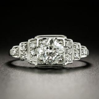 Art Deco .79 Carat Diamond Engagement Ring - 2