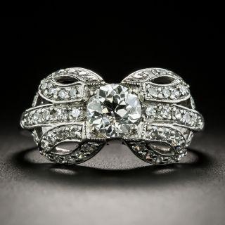 Art Deco .79 Carat Diamond Engagement Ring - GIA E VS2 - 1