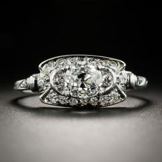 Art Deco .80 Ct. Diamond Platinum Engagement Ring by Traube Orange Blossom - GIA F SI2 - 1