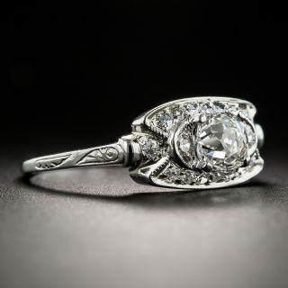 Art Deco .80 Ct. Diamond Platinum Engagement Ring by Traube Orange Blossom - GIA F SI2