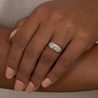 Art Deco .81 Carat Diamond Engagement Ring