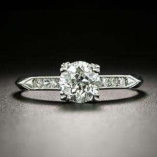 Art Deco .89 Carat Diamond Engagement Ring - GIA I VS2 - 2