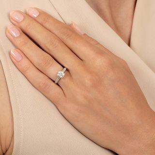 Art Deco .89 Carat Diamond Engagement Ring - GIA I VS2