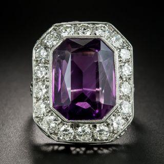 Art Deco 9.75 Carat Amethyst and Diamond Ring - 2