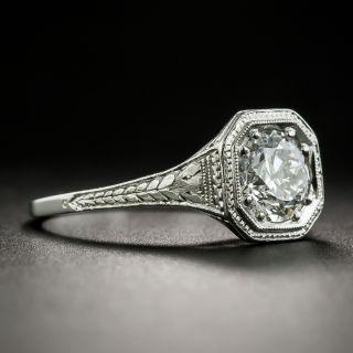 Art Deco .90 Carat Diamond Engagement Ring