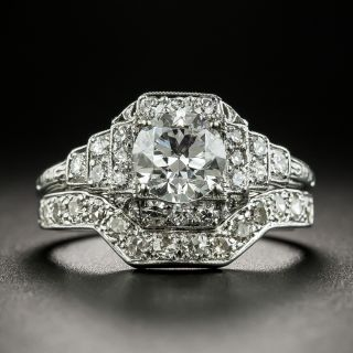 Art Deco .90 Carat Diamond Engagement Ring, GIA D VS1 - 2