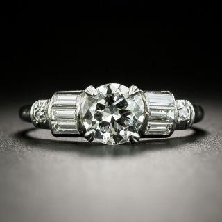 Art Deco .90 Carat Diamond Engagement Ring - GIA H VS2 - 2