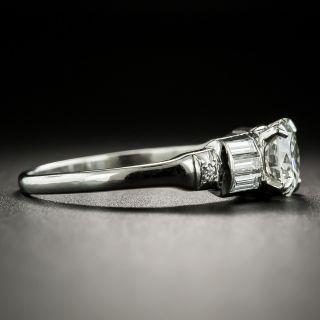 Art Deco .90 Carat Diamond Engagement Ring - GIA H VS2