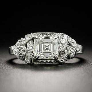 Art Deco .90 Carat Square Emerald-Cut Diamond Engagement Ring - GIA K VVS2 - 2