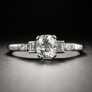 Art Deco .91 Carat Antique Cushion-Cut Diamond Engagement Ring - GIA J SI1 - 2