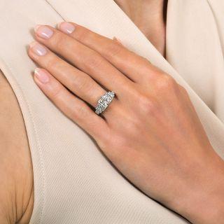 Art Deco .91 Carat Diamond Engagement Ring by Tenen Brothers - GIA - H VVS1