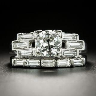 Art Deco .91 Carat Diamond Wedding Set - GIA J VS2 - 3