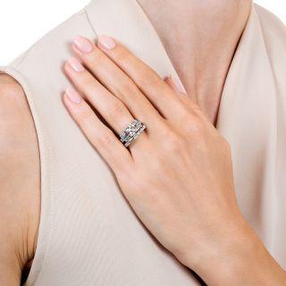 Art Deco .91 Carat Diamond Wedding Set - GIA J VS2