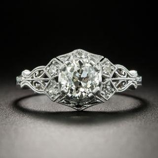 Art Deco .93 Carat Diamond Engagement Ring - GIA - 2