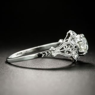 Art Deco .93 Carat Diamond Engagement Ring - GIA