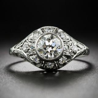 .95 Carat Diamond Art Deco Platinum Ring - 1