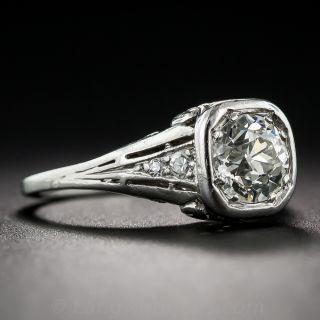 Art Deco .95 Carat Diamond Engagement Ring