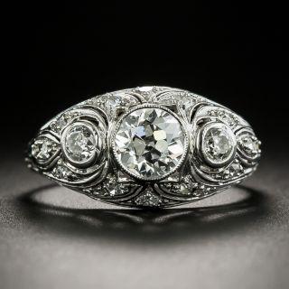 Art Deco .96 Carat Diamond Engagement Ring  - 3