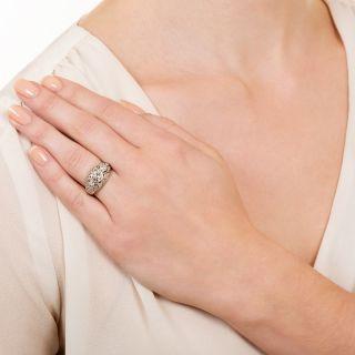 Art Deco .96 Carat Center Diamond Engagement Ring