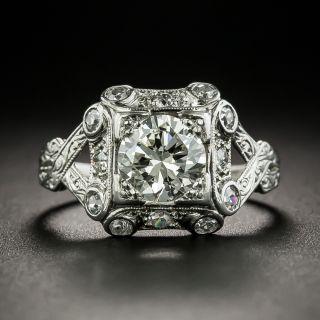 Art Deco .96 Carat Diamond Engagement Ring - GIA - 2