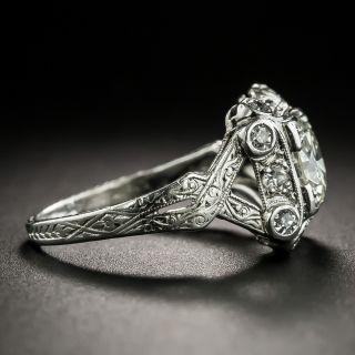 Art Deco .96 Carat Diamond Engagement Ring - GIA