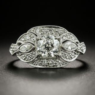 Art Deco .98 Carat Octagonal-Cut Diamond Engagement Ring - GIA J SI2 - 2