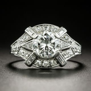 Art Deco .99 Carat Diamond Engagement Ring - GIA G VVS2 - 1