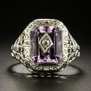 Art Deco Amethyst and Diamond Ring - 2