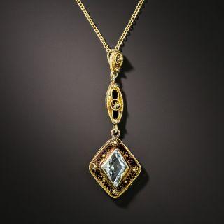 Art Deco Aquamarine Necklace - 2