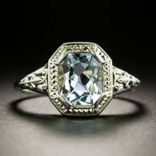 Art Deco Aquamarine Ring by Bippart and Bennett and Co. - 3