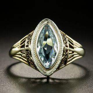 Art Deco Aquamarine Ring by J.R. Wood & Sons - 3