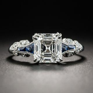 Art Deco Asscher-Cut Diamond Ring 1.75 Carat  GIA I SI1