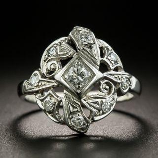 Art Deco Asymmetrical Diamond Dinner Ring - 2