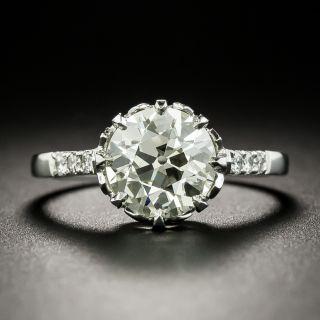 Art Deco Austrian 2.08 Carat Diamond Engagement Ring - GIA N SI2 - 2