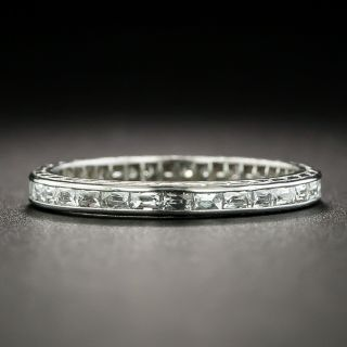 Art Deco Baguette Cut Diamond Eternity Band, Size 5 1/2
