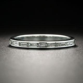 Art Deco Baguette Diamond Eternity Band, Size 5 1/2 - 1