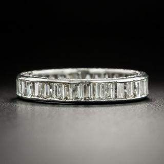 Art Deco Baguette Diamond Eternity Band - Size 6