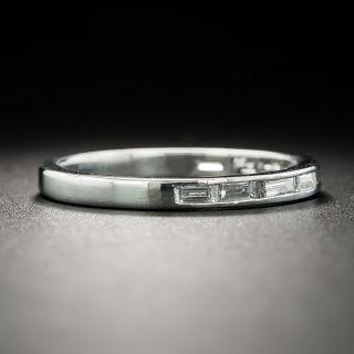 Art Deco Baguette Diamond Half Eternity Band, Size 5 1/2