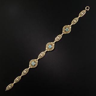 Art Deco Blue Zircon Bracelet