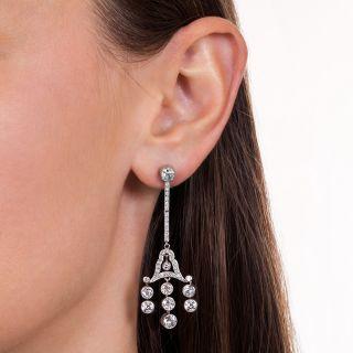 Art Deco Chandelier Diamond Earrings