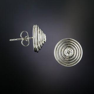 Art Deco Circular Diamond Stud Earrings
