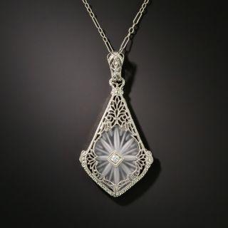 Art Deco Diamond and Crystal Quartz Pendant - 2