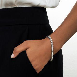 Art Deco Diamond and Platinum Line Bracelet
