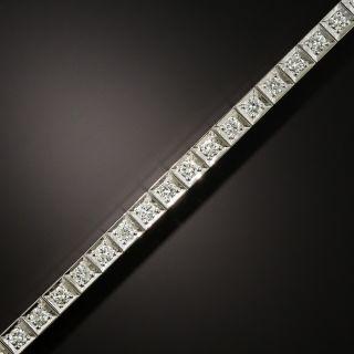 Art Deco Diamond and Platinum Line Bracelet - 3