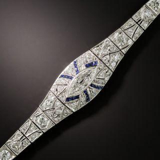 Art Deco Diamond and Sapphire Bracelet - 2