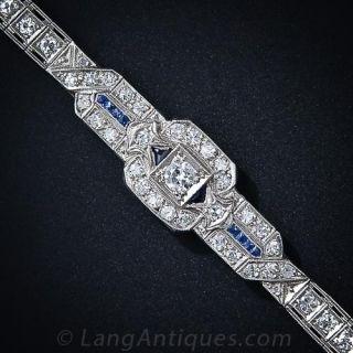 Art Deco Diamond and Sapphire Bracelet - 1