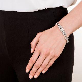Art Deco Diamond and Sapphire Bracelet in Platinum