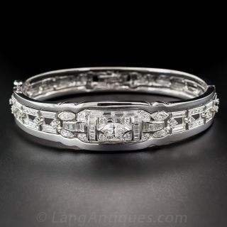 Art Deco Diamond Bangle Bracelet