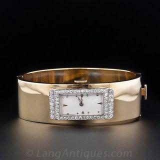 Art Deco Diamond Bangle Watch
